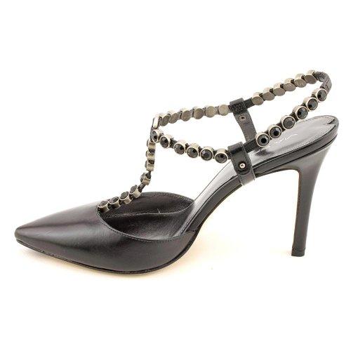 Spiga Pump Leather Slingback Black Malin Jeweled Via Shoes Heel Hxw7qAYAd