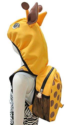 Tierkinderrucksack Kleinkind Jungen Mädchen Rucksäcke Tasche mit Kapuze, Original-Certified Kidland 2-6 Jahre (viele Entwürfe) (Giraffe) Giraffe