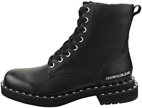 Calvin Klein Chaussures Femme Bottes Nannie Cuir Noir FW 19-20