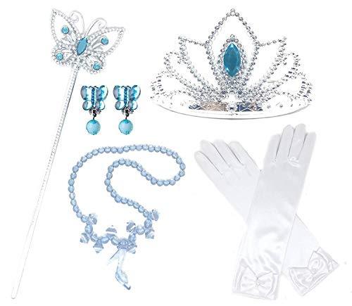 Princess Costume Accessories (Princess Cinderella Dress up Party 4-Piece Accessories Gift Set)