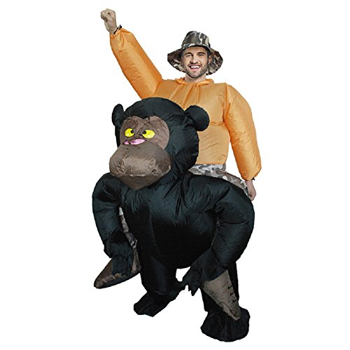 Inflatable Orangutan Costumes Carry Party Dress Halloween Animal Suit Fancy (Adult Size)