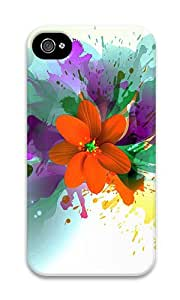 iPhone 4 Case,iPhone 4S Case,VUTTOO iPhone 4 Cover With Photo: Flower Blast For Apple iPhone 4/4S - PC Hard Case