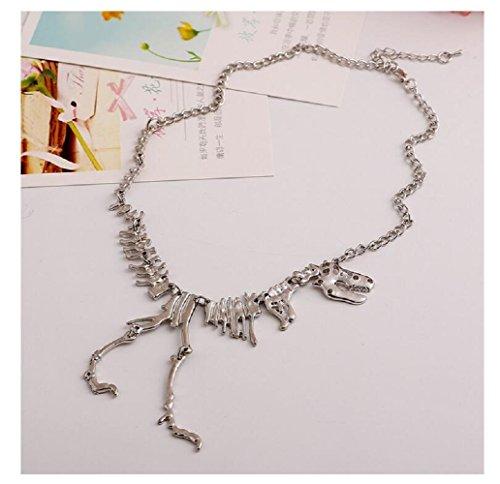North Cape Resin (Fariishta Jewelry Personality Dinosaur Skeleton Pendant Necklace(sliver))