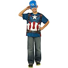 Rubies Costume Avengers 2 Age of Ultron Child's Captain America T-Shirt and Mask, Large