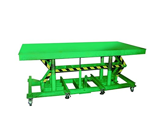 Wesco-Industrial-492252-Stn-3608-3F-36-x-96-in-Lexco-Long-Deck-Hydraulic-Foot-Operated-Lift-Table