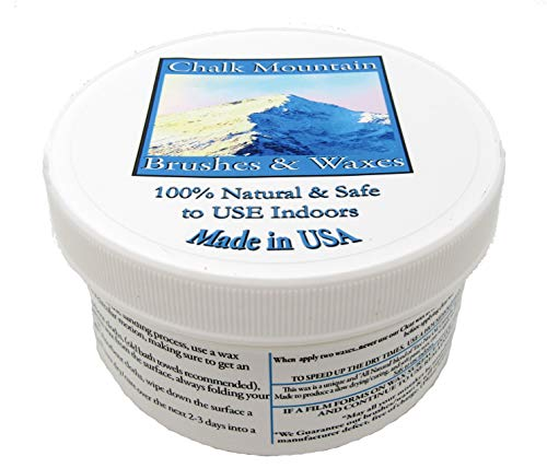- NEW LOOK!!! Chalk Mountain 100% All Natural 16oz Furniture Finishing Waxes. SAFE TO USE INDOORS. (Clear)