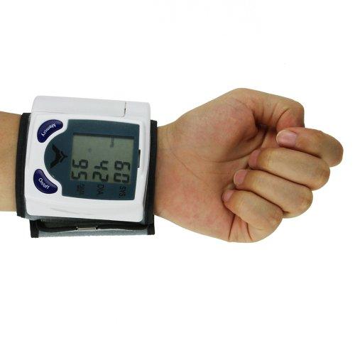 MuchBuy Digital LCD Wrist Blood Pressure Monitor & Heart Beat Rate Pulse Meter Measure