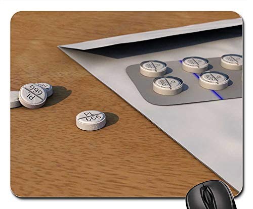 Mouse Pads - Digital Art 3D Modeling Wallpaper Pills Tablets ()