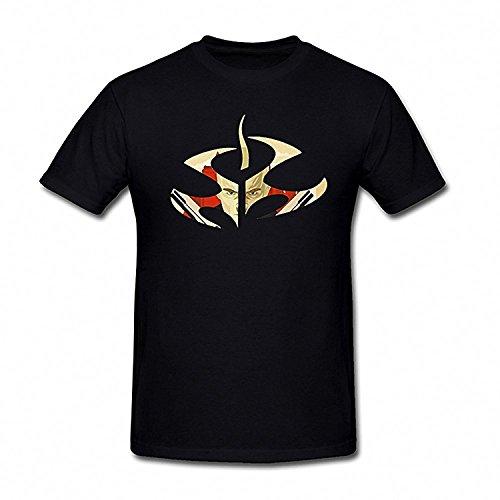 Tee Heir (Drong Men's Agent 47 Fire Logo T-Shirt L Black)