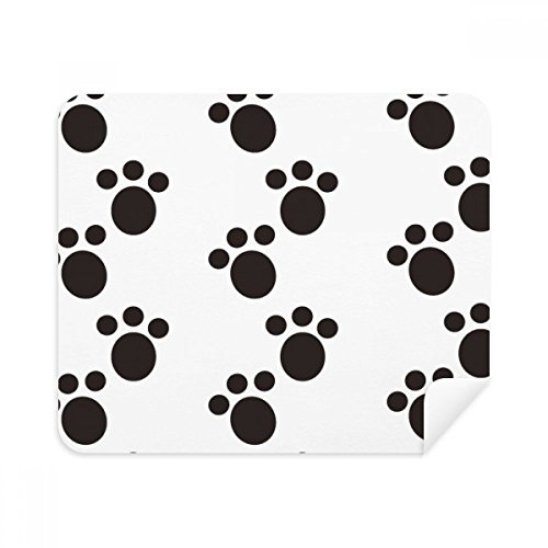 (Dog Animal Claw Paw Print Protect Animal Phone Screen Cleaner Glasses Cleaning Cloth 2pcs Suede Fabric)