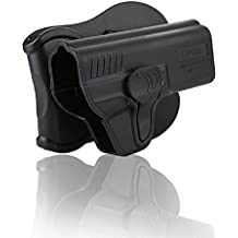 Smith Wesson M&P 9mm Full Size Holster, Adjustable Draw Angle OWB Tactical Pistol Holsters Fit S&W M&P9