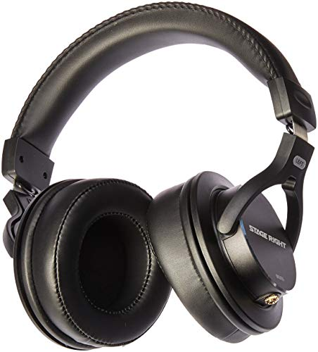 Monoprice Multimedia Studio Reference Monitor Headphones - 53mm | Closed-Back - Stage Right Series (Best Headphones For Mixing And Mastering 2017)