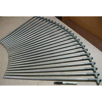 "RT 24 Pack of Metal Ground Anchors 24"" Long Tent Stakes: Garden & Outdoor"
