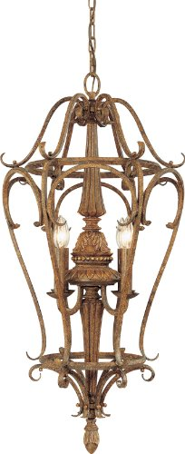 4-64 Capri 4 Light Chestnut Spice Chandelier, 16.75