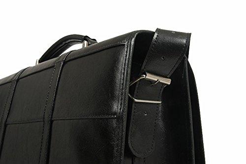 Bag Herren Laptoptasche Männerarbeit, Aktentasche Laptoptasche, Aktentasche, echtes Leder 100%