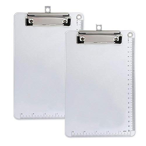 Clipboard, Kakbep Recycled Heavy Duty Aluminum Clipboard with Strong Clip Double Side Non-Slip Design, 9'' x 12.5'' by Kakbpe
