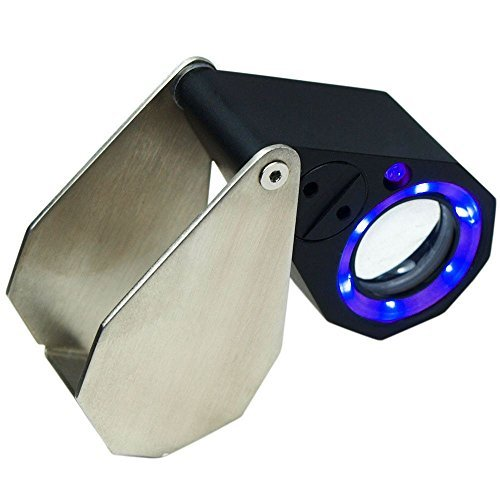 30X Magnification 21mm Triplet Jewelers Loupe w/ LED & UV...
