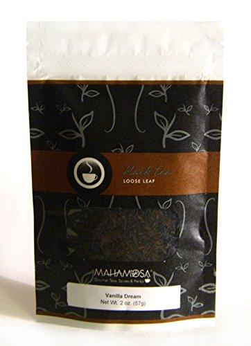 Mahamosa Vanilla Dream Tea 2 oz - Loose Leaf Flavored Black Tea Blend (with black tea, flavoring, vanilla pieces) (Vanilla Tea Loose Leaf Mahamosa)