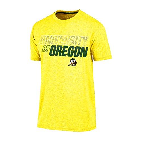 NCAA Oregon Ducks Men's Short sleeve Crew Neck Tee, X-Large, Yellow Heather (Shorts Oregon Mens)