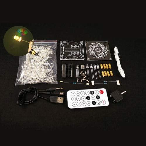 RETYLY DIY LED-Licht Wuerfel Canton Tower Suite drahtlose Fernbedienung elektronische Kit Musik Loeten Kits DIY Gehirn-Training Spielzeug