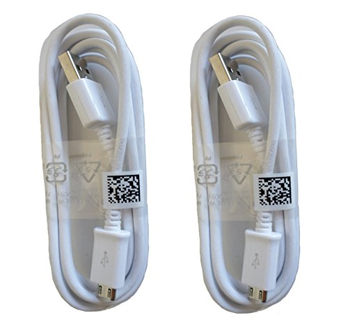 Samsung Micro USB Charging Data Cable for Galaxy S3/S4/Note 2, 2 Pack - Non-Retail Packaging - ()