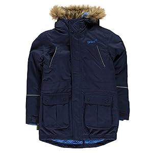 Gelert Kids Siberian Parker Juniors Parka Jacket Coat Top Hooded Zip Warm Fur Nvy Blue 9-10 (MB)