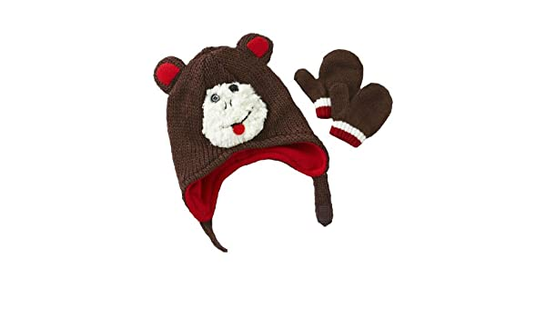 Amazon.com  Toby N.Y.C. Infant Boy s Winter Hat   Mittens - Chimp  Infant  And Toddler Gloves And Mittens  Clothing 014254c87fda