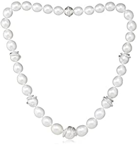 TARA Pearls Natural Color White South Sea Pearl Necklace, 17.5''