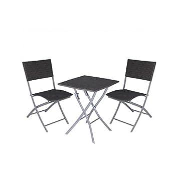 Amazon De 3tlg Sitzgruppe Stahl Sitzgarnitur Rattan Gartenmobel