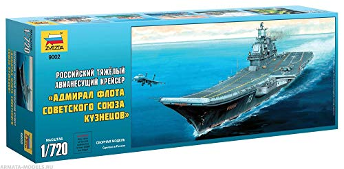 ZVEZDA 9002 Russian Heavy Aircraft Carrier-Cruiser Admiral Kuznetsov - (Paints not Included) Plastic Model Kit Scale 1/720 124 Details Lenght 17
