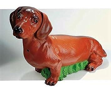 Deko Detector de movimiento perro perro salchicha Wau Wau 47 x 33 cm Figura Jardín Alemania PVC gom 88059: Amazon.es: Oficina y papelería
