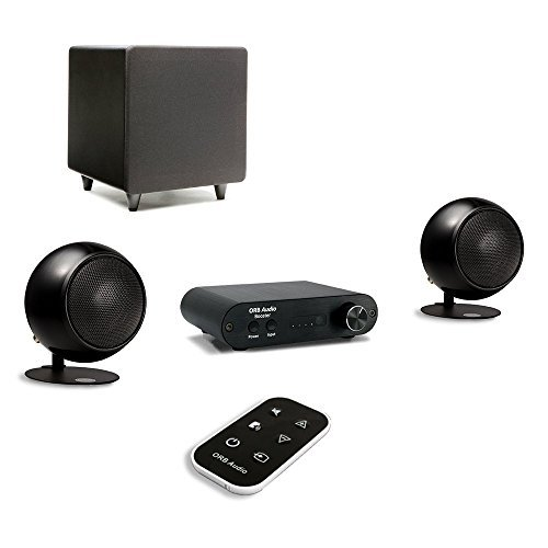 Orb Audio: Booster1 Micro Soundbar and Stereo Speaker System with EZ Voice - Remote Included - TV Sound Bar Alternative - Provides Crisp, Detailed Sound - Lifts Dialogue Above Background Noise]()