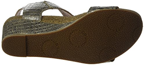 Ca'ShottA8020 - Sandalias de Punta Descubierta Mujer Silber (Cocco Platinium 193)