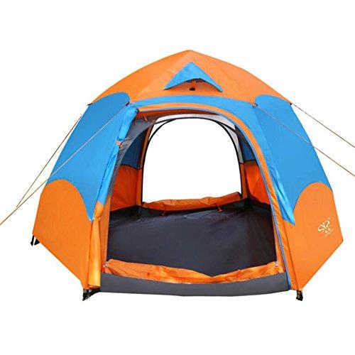 浸食切断するファンブルアウトドアキャンプテントダブルヘキサゴン防水キャンプテント自動スプリングレインコートテント防水防風性紫外線ハイキングビーチ用