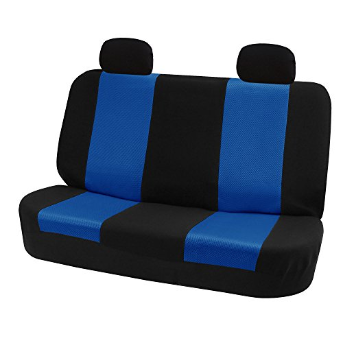 (FH Group FH-FB102R012 Classic Solid Bench Car Seat Cover Blue/Black- Fit Most Car, Truck, Suv, or Van)