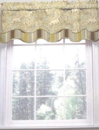 Waverly Paddock Shawl Paisley Stripe Scallop Window for sale  Delivered anywhere in USA