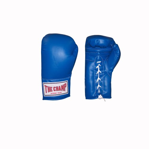 AMBER Champ Laceup Training Gloves 14oz Blue