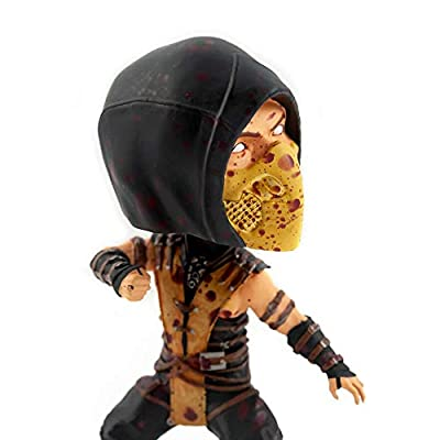 Mezco Toyz Mortal Kombat X Scorpion Bobble Head Figure   Exclusive Arcade Block Collectible Statue   6 Inches Tall: Toys & Games