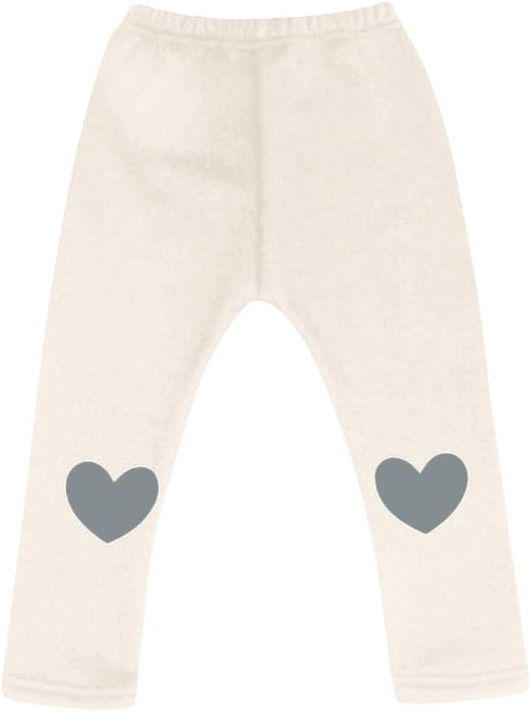 Children Kids Girls Winter Warm Thick Fleece Leggings Lined Long Trousers Pants