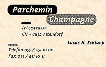 Apli DECAdry Pochette De 120 Cartes Visite Pre Imprimees Parchemin Champagne 85 X 54