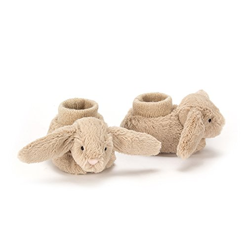 Baby Bunny Slippers - Jellycat Bashful Beige Bunny Baby Booties, 0-3 months