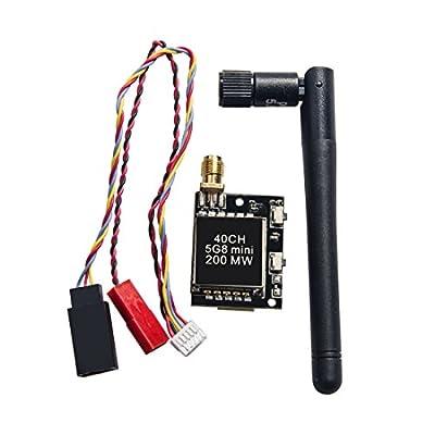 GOTOQOMO VTX1 5.8GHz 40CH 200mW FPV Transmitter with 5V Out for Camera VTX for Drone/Quadcopter/RC Hobby: Camera & Photo
