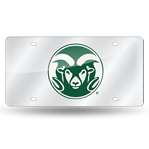 Rico Industries NCAA Colorado State Rams Laser Inlaid Metal License Plate Tag, - Plate License Colorado Tag