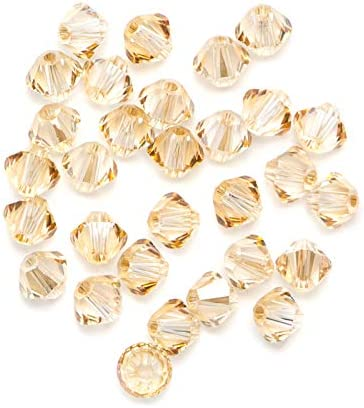 Swarovski – Create Your Style 4mm Golden Shadow Bicone Bead Mix (Includes 30 Crystals)