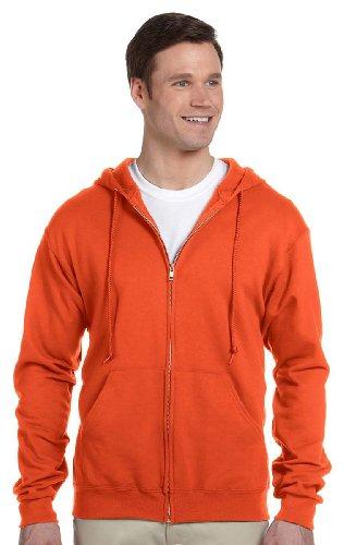 Jerzees 8 oz.; 50/50 NuBlend� Fleece Full-Zip Hood - BURNT