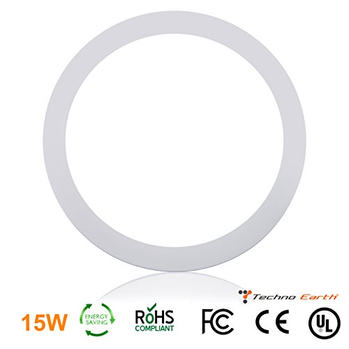 Techno Earth 15W Dimmable Round Ceiling Panel Led Ultra Thin Glare Light Kits with Led Driver AC 85-265V - Cool - Wiki Lenses Polarized