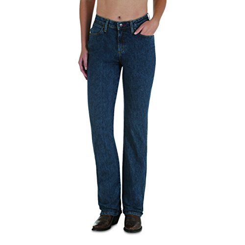 - Wrangler Women's Cowgirl Cut Slim Fit High Rise Stretch Jean, Stonewash, 11X30