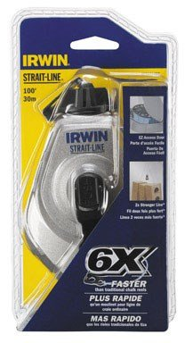 IRWIN Tools STRAIT-LINE 2031314DS MACH6 6X High-Speed Refillable Chalk Line Reel, 100-foot (2031314DS)