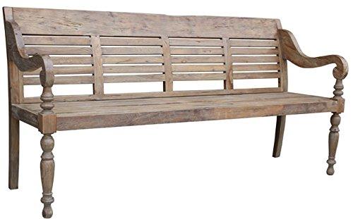 Sitzbank H90 x B180 x T62 cm / altes Teakholz / 99774