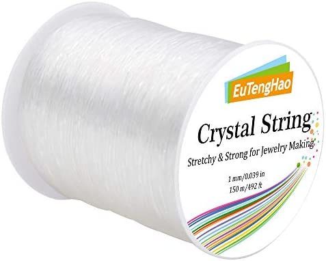 Crystal Thread Translucent 1mm Elastic String  Elastic Cord  Clear Beading Thread  Stretch Cord  Bracelet String ..